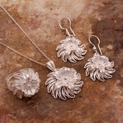 Marigold Filigree Silver Set