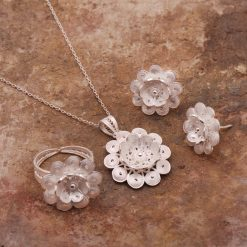 Portulaca Filigree Silver Set