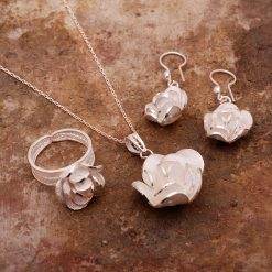 Rose-3 Filigree Silver Set