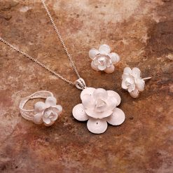 Rose-4 Filigree Silver Set