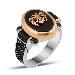 Chesta Collection Gentle Onyx Hawk Ring
