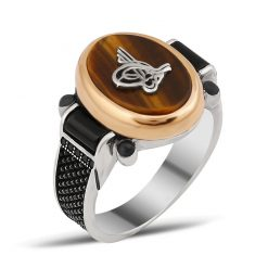 Chesta Collection Gentle Tiger's Eye Tugra Ring