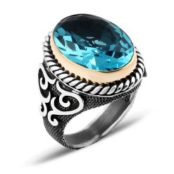 Hanedan Aquamarine Men Ring