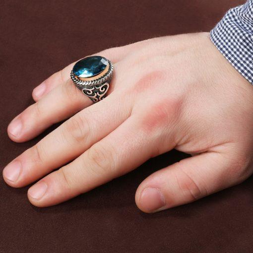 Hanedan Aquamarine Men Ring