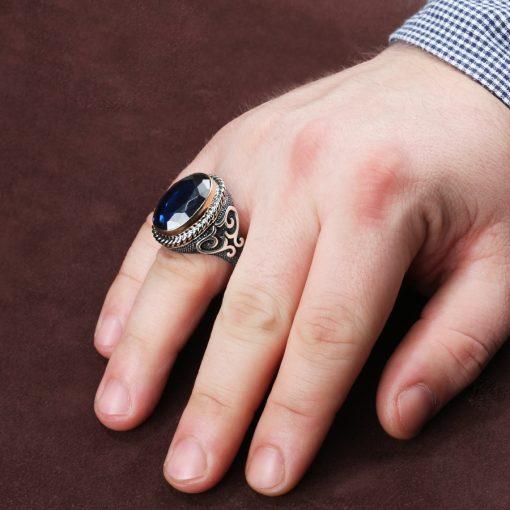 Hanedan Night Blue Men Ring -2