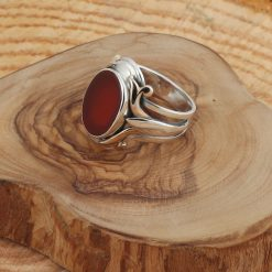 Modern Oval Aqeeq Men Ring