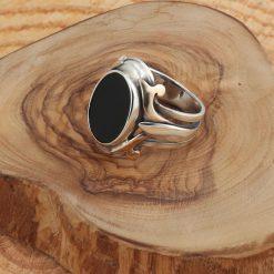Modern Oval Onyx Men Ring