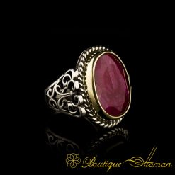 Root Ruby Silver Ring-1