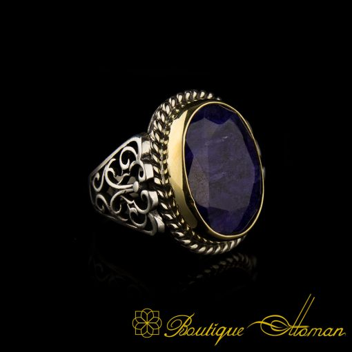 Root Sapphire Men Ring