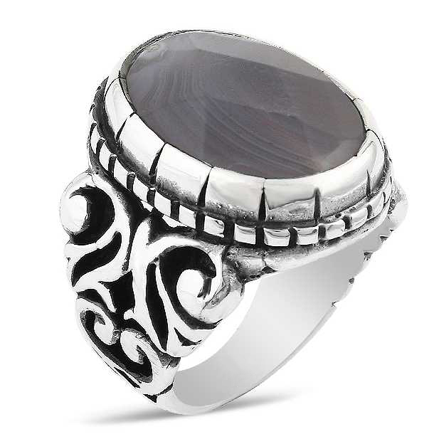 a1ee134db Sulemani Hakik Ring in 925 Sterling Silver | Boutique Ottoman Exclusive