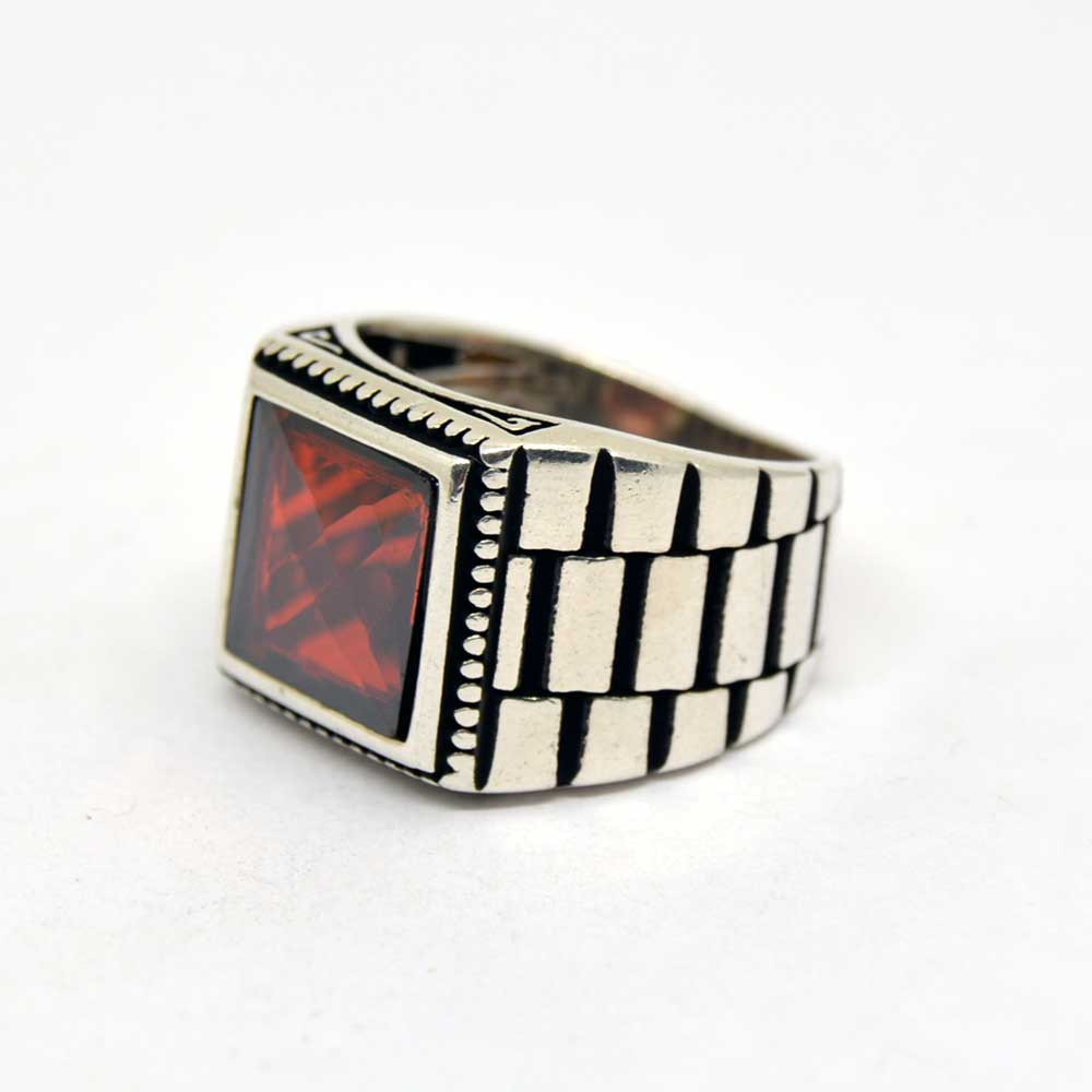 Square Faced Mens Rings