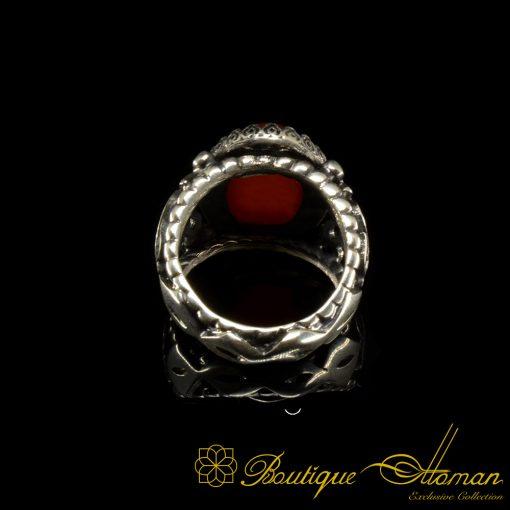 Red Liver Yemeni Aqeeq Hand Made RingRed Liver Yemeni Aqeeq Hand Made Ring