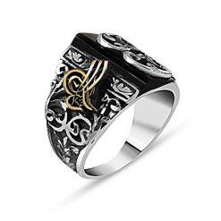 Black Stone Tughra Hand Made Ring