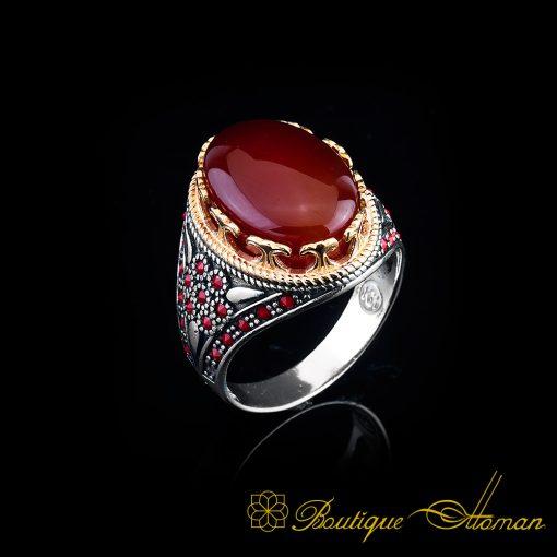 Arabia-Red-Aqeeq-Ring-BOM-4015-1