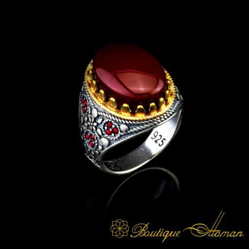 Arabia-Red-Aqeeq-Ring-BOM-4016-1