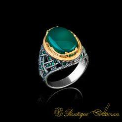 Green-Aqeeq-Silver-Men-Ring-BOM-4012-1