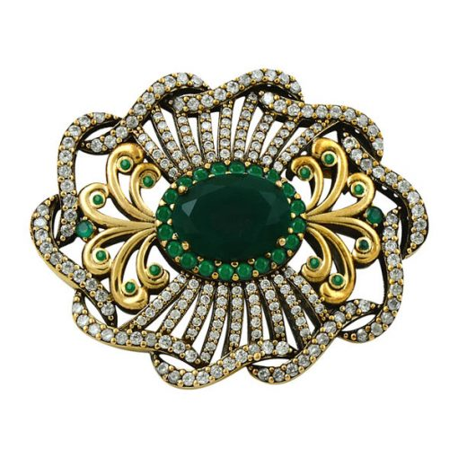 Authentic Brooch by Boutique Ottoman Exclusive Silver Brooches and Pins Collection BOW-8043