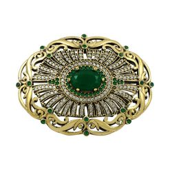 Authentic Brooch by Boutique Ottoman Exclusive Silver Brooches and Pins Collection BOW-8044