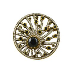 Authentic Brooch by Boutique Ottoman Exclusive Silver Brooches and Pins Collection BOW-8073
