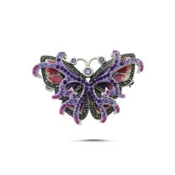 Marcasite Brooch by Boutique Ottoman Exclusive Silver Brooches and Pins Collection BOW-8062