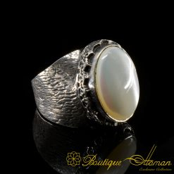 Nacre-Mother-Of-Pearl-Silver-Men-Ring-BOM-1002--6