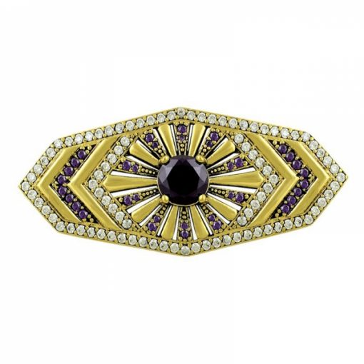 Ottoman Style Brooch by Boutique Ottoman Exclusive Silver Brooches and Pins Collection BOW-8031