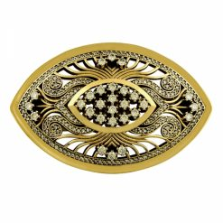 Ottoman Style Brooch by Boutique Ottoman Exclusive Silver Brooches and Pins Collection BOW-8076