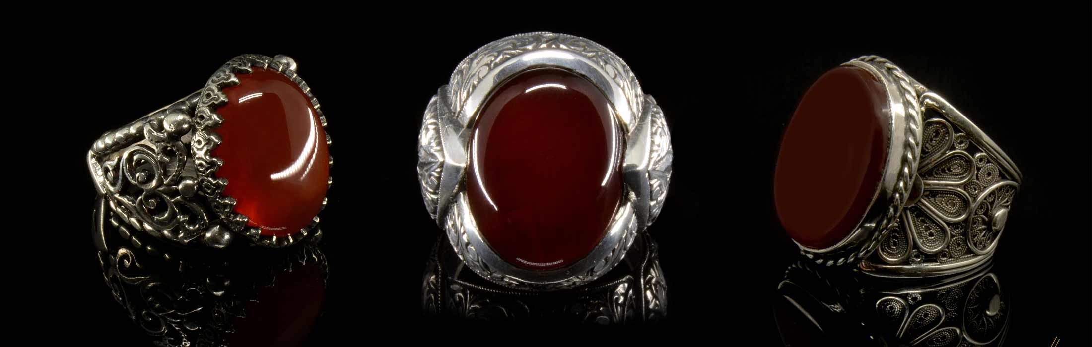 Genuine Red Liver Stone Ring