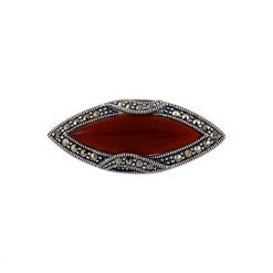 Silver Gemstone Brooch by Boutique Ottoman Exclusive Silver Brooches and Pins Collection BOW-8027