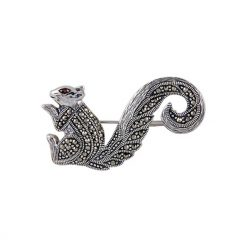 Silver Gemstone Brooch by Boutique Ottoman Exclusive Silver Brooches and Pins Collection BOW-8058