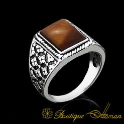 tigers-eye-square-aqeeq-silver-modern-men-ring