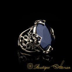 Blue Sapphire Handmade Silver Ring