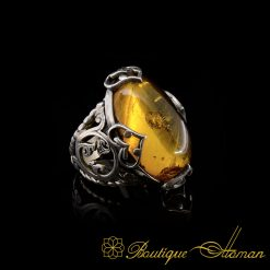 Piece Amber Ring One of A Kind Collection
