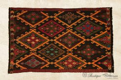 Antique Turkish Wool Rug Handmade Anatolian Oriental Old Carpet-0