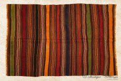 Antique Turkish Wool Rug Handmade Anatolian Oriental Old Carpet-13