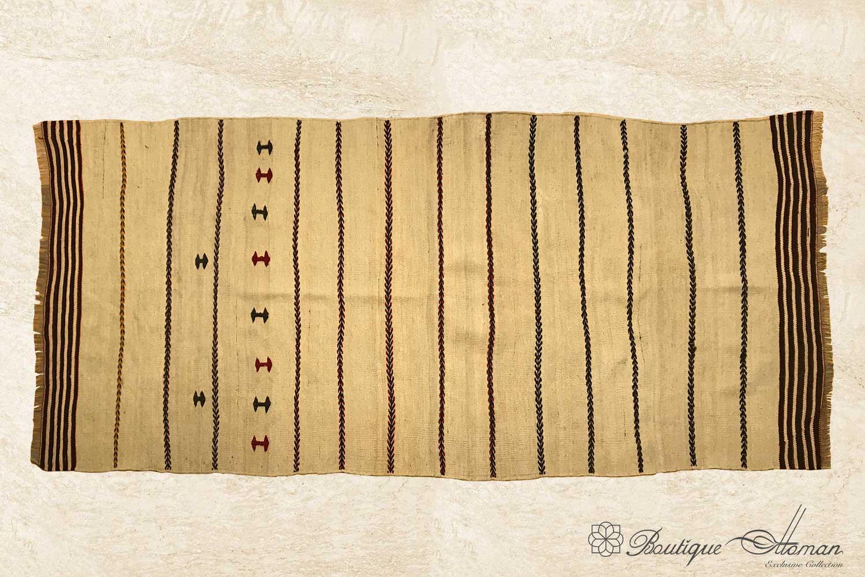 Antique Beige White Runner Rug Carpet