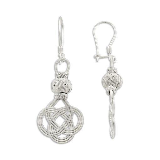 Kazaz Earrings - Turkish Silver Jewelry - BOW-4229