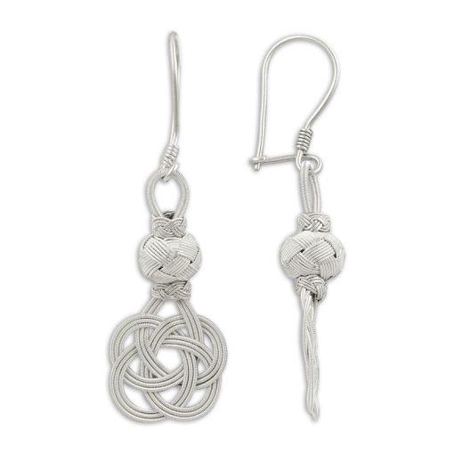 Kazaz Earrings - Turkish Silver Jewelry - BOW-4230