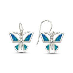 Opal Dragonfly Earrings - Turkish Silver Jewelry - BOW-4208