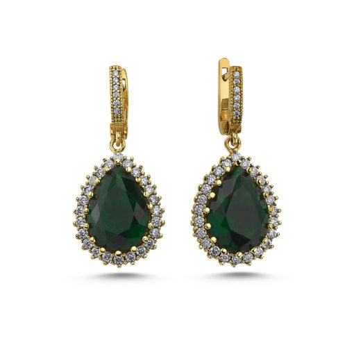 Hurrem Sultan Classic Emerald Earrings