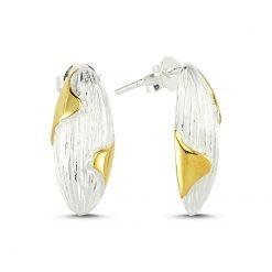 Stoneless Earrings - Turkish Silver Jewelry - BOW-4248