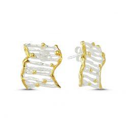 Stoneless Earrings - Turkish Silver Jewelry - BOW-4254