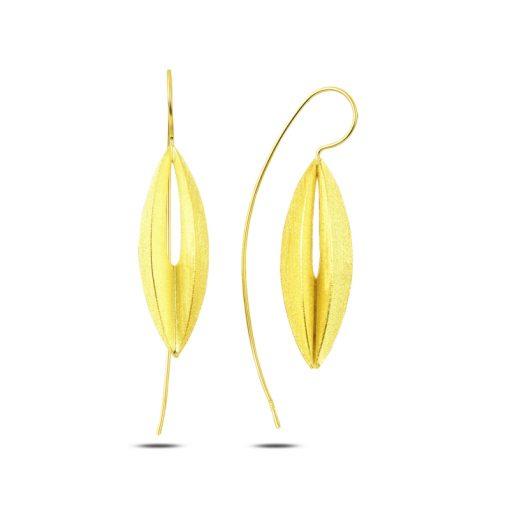 Stoneless Earrings - Turkish Silver Jewelry - BOW-4277