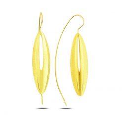 Stoneless Earrings - Turkish Silver Jewelry - BOW-4279