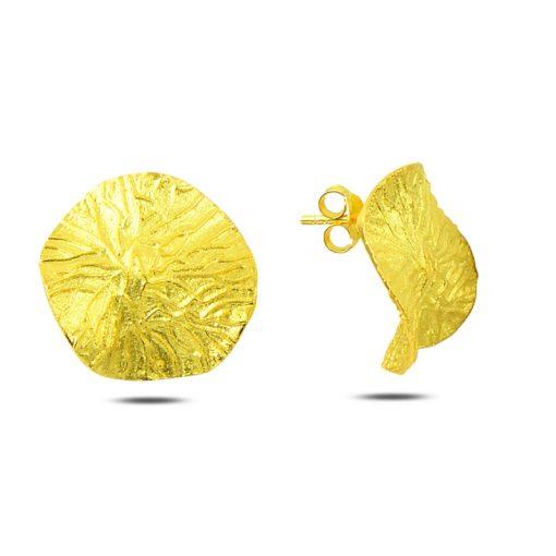 Stoneless Earrings - Turkish Silver Jewelry - BOW-4325