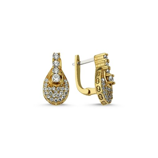Swarovski Ottoman Style Earrings - Turkish Silver Jewelry - BOW-4219