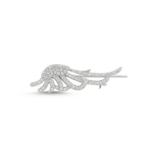 Swarovski Wing Earcuff - Turkish Silver Jewelry - BOW-4648