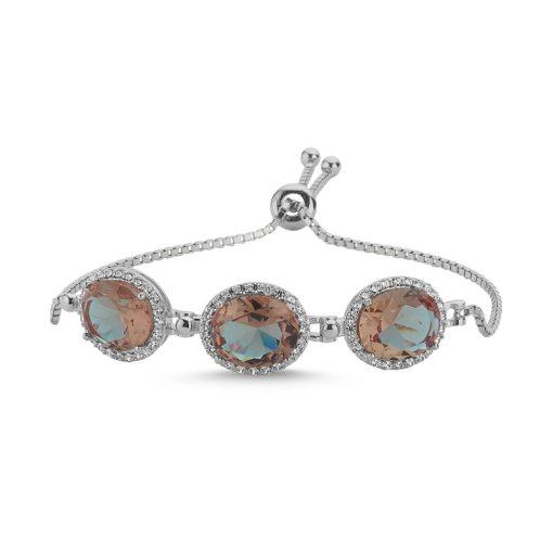Zultanite Color Change Turkish Stone-Oval Cut Zultania Adjustable Sliding Bracelet