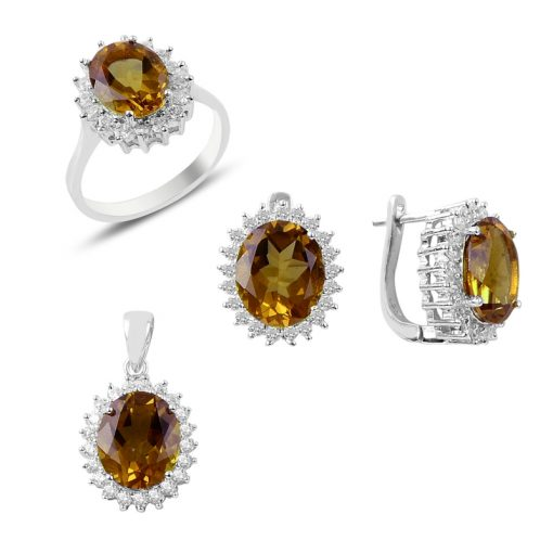 Zultanite Color Change Turkish Stone-Oval Cut Zultanite Solitaire Set With Swarovski