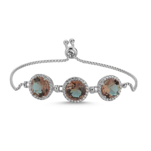 Zultanite Color Change Turkish Stone-Round Cut Adjustable Sliding Zultanite Bracelet